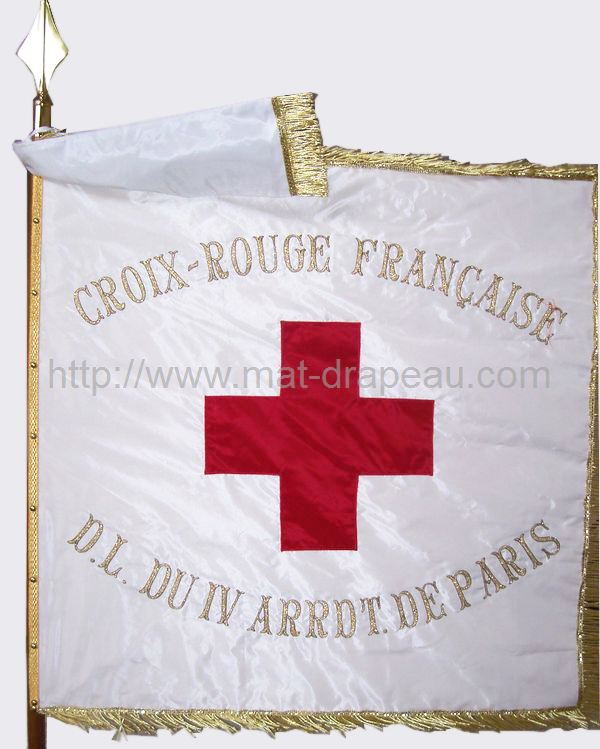 associations : drapeau de la Croix Rouge