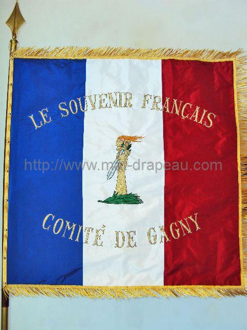 Drapeaux associations civiles: souvenir français