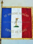 Drapeaux associations anciens combattants: souvenir Français