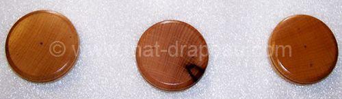 Drapeaux de table: socle en bois 1 trou