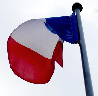 drapeau france - pavillon sur mât