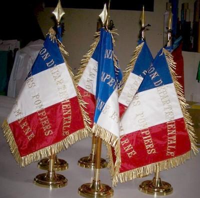 drapeau sapeur pompier - fanion des sapeurs pompier