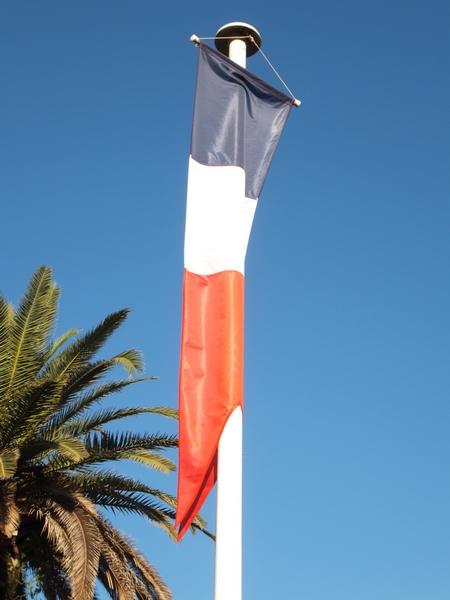 Oriflamme France sur mât