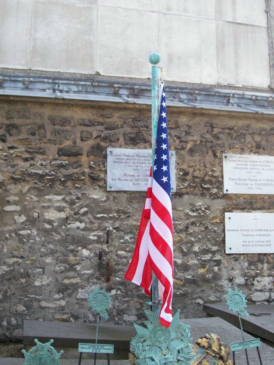 Pavillon américain sur la tombe de La Fayette