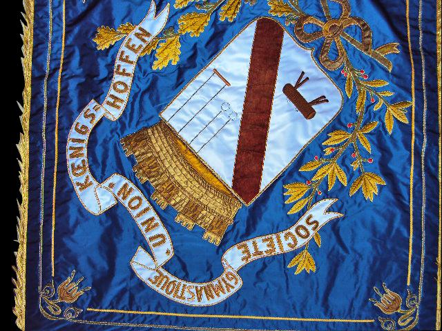 broderie drapeau : pavillon broderie: détail de la rénovation