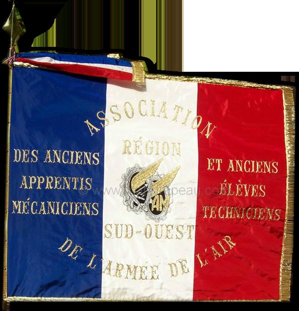 associations : drapeau association civile des anciens apprentis mécaniciens et anciens élève techniciens
