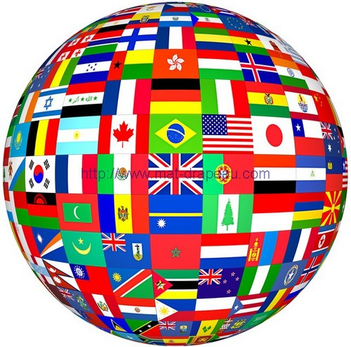 les drapeaux du monde - pavillons du monde