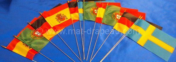 drapeau de table : version drapeaux de supporter