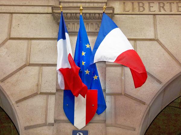 Drapeau européen : drapeaux de façace France et Europe