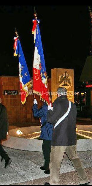 Porte drapeau lors d'une cérémonie
