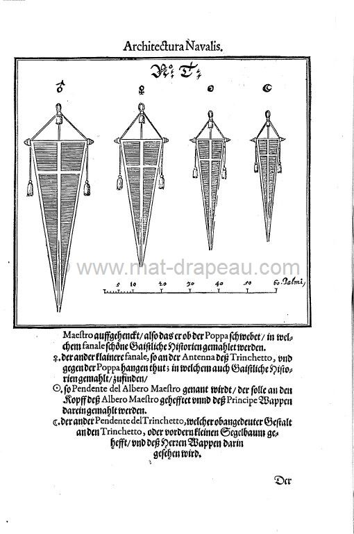 Mât drapeau : technique navale au XVIIe siècle