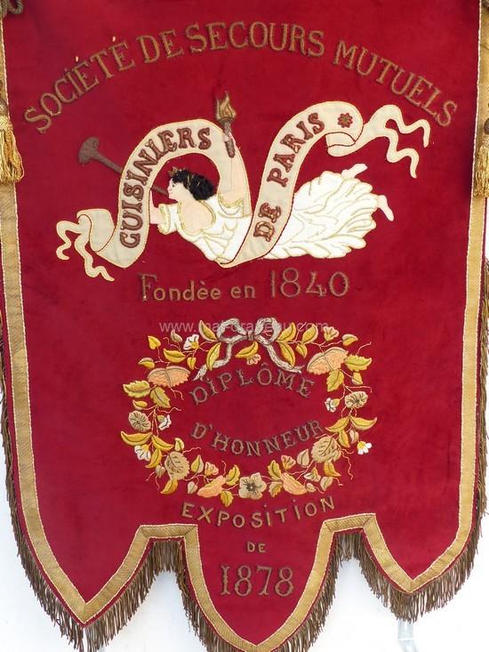 bannière - bannière de la Corporation des cuisiniers de Paris